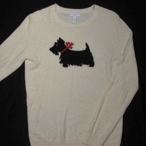CHARTER CLUB ~ SCOTTISH TERRIER Crew Sweater